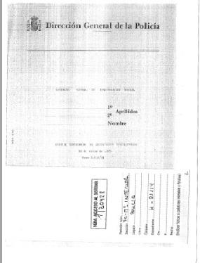 Comisaría General de Investigación Social, 11 de marzo de 1975