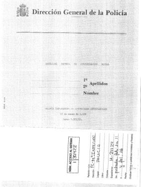 Comisaría General de Investigación Social, 12 de enero de 1976