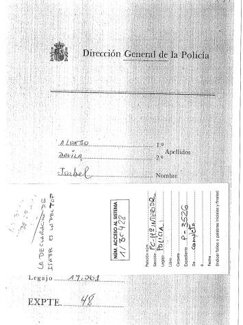 Comisaría General de Investigación Social, años 1974-1975